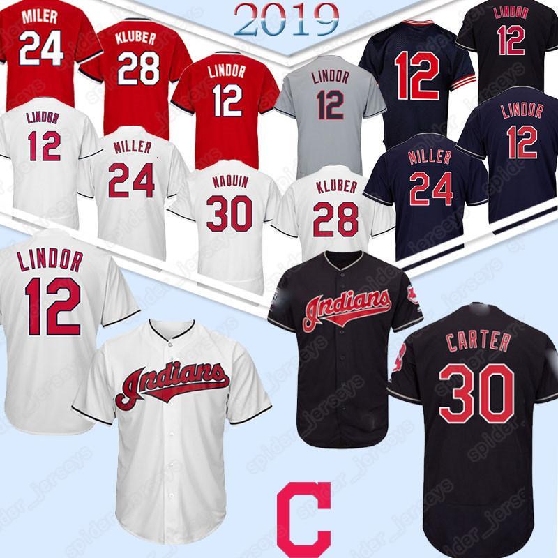 super popular 5ceef 32afb 30 Joe Carter Cleveland Jerseys indians 10 Edwin Encarnacion 12 24 Baseball  Jersey 2019 Top quality