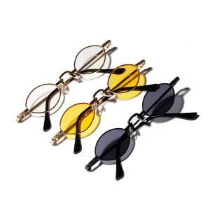Unisex Small Oval Vintage Sunglasses Fashion Driving Creative Metal Frame Eyewear Retro Outdoor Tiny Round Skinny Spectacles LJJT311