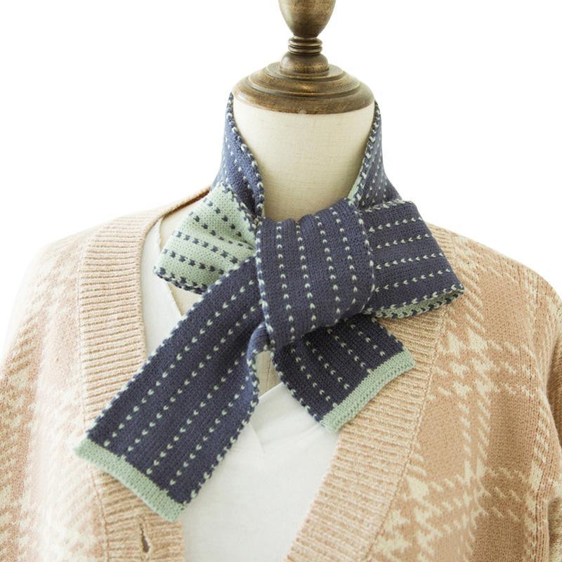 7e1ac38ee Korean Long Thin Wool Scarf Knitting Women Scarves Winter Knit Collar Scarf  Fashion Bow Female Tie Muffler Cashmere Neckerchief Bandana Hairstyles  Yellow ...