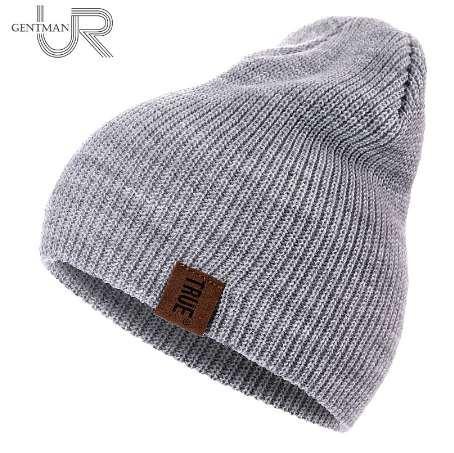 aa63c6f9d 1 Pcs Hat PU Letter True Casual Beanies for Men Women Warm Knitted Winter  Hat Fashion Solid Hip-hop Beanie Hat Unisex Cap