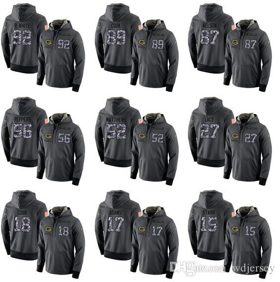 wholesale dealer 09fba da97b Men's and women's green bay packers admiral dark grey version of the hoodie