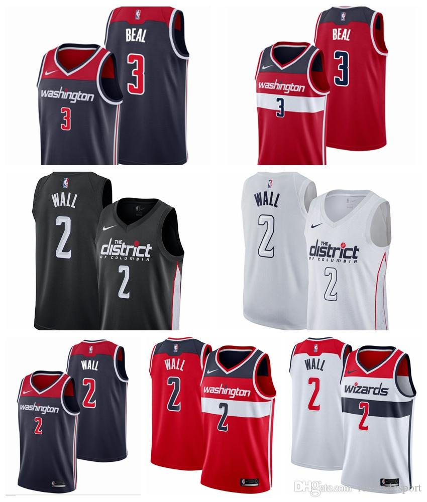 best service 45e56 53409 2019 Earned Washington John Wall Bradley Beal Wizards Edition Basketball  Jerseys Cheap City John Wall Edition Stitched Shirts S-XXL
