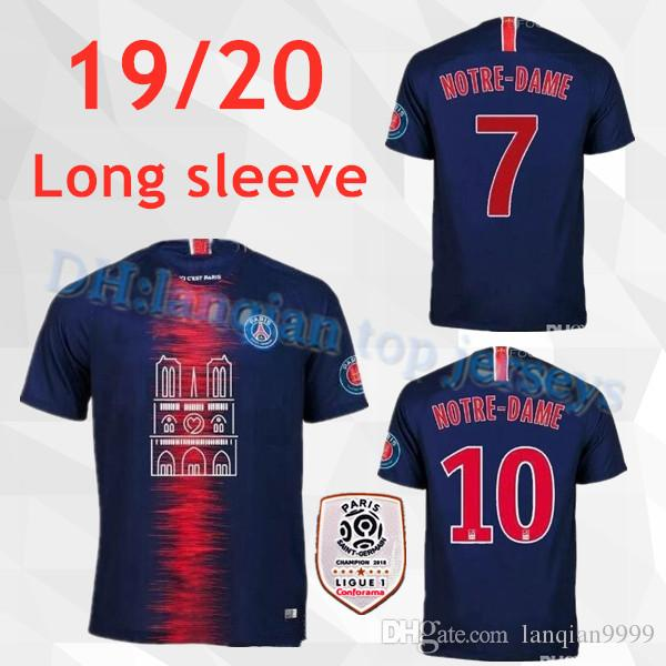 439364e678 Compre 19 20 Psg Notre Dame Camisas De Futebol Casa Mbappe Maillot De Pé  2018 2019 Paris CAVANI Remendo Terceiro Camisetas Futebol Camisas De  Futebol De ...