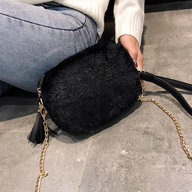 2019 Winter Soft Faux Fur Bag Small Fashion Women Fur Crossbody Bag Warm Plush  Handbag Ladies Shoulder Bag Luxury Messenger Purses For Sale Leather Purse  ... 1f8848333783d