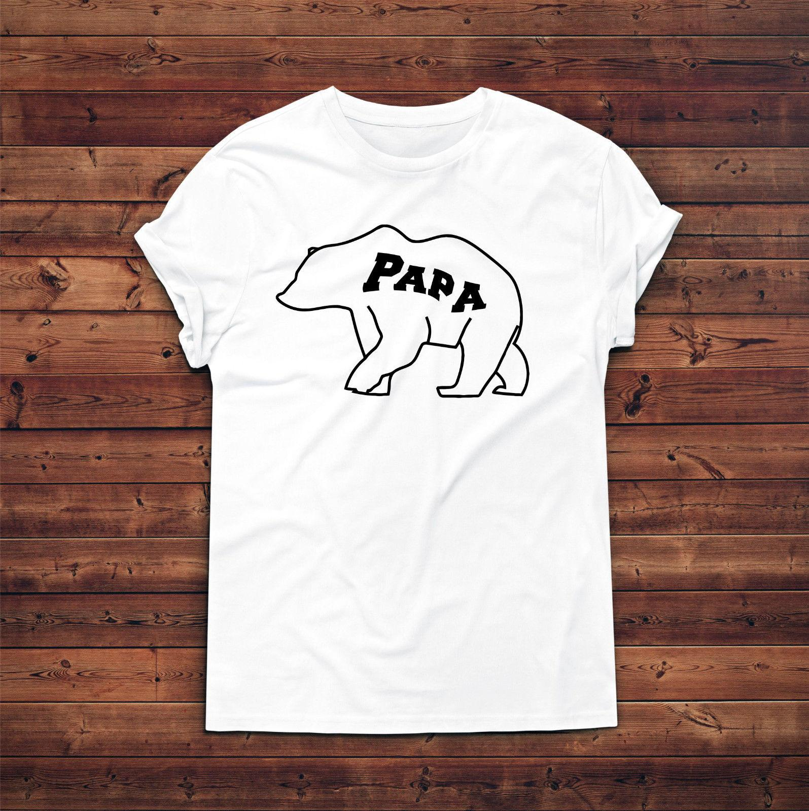Papa Bear T ShirtGift For DadDaddy Birthday PresentNew Dad TshirtNew Daddy Men Women Unisex Fashion Tshirt Free Shipping Black