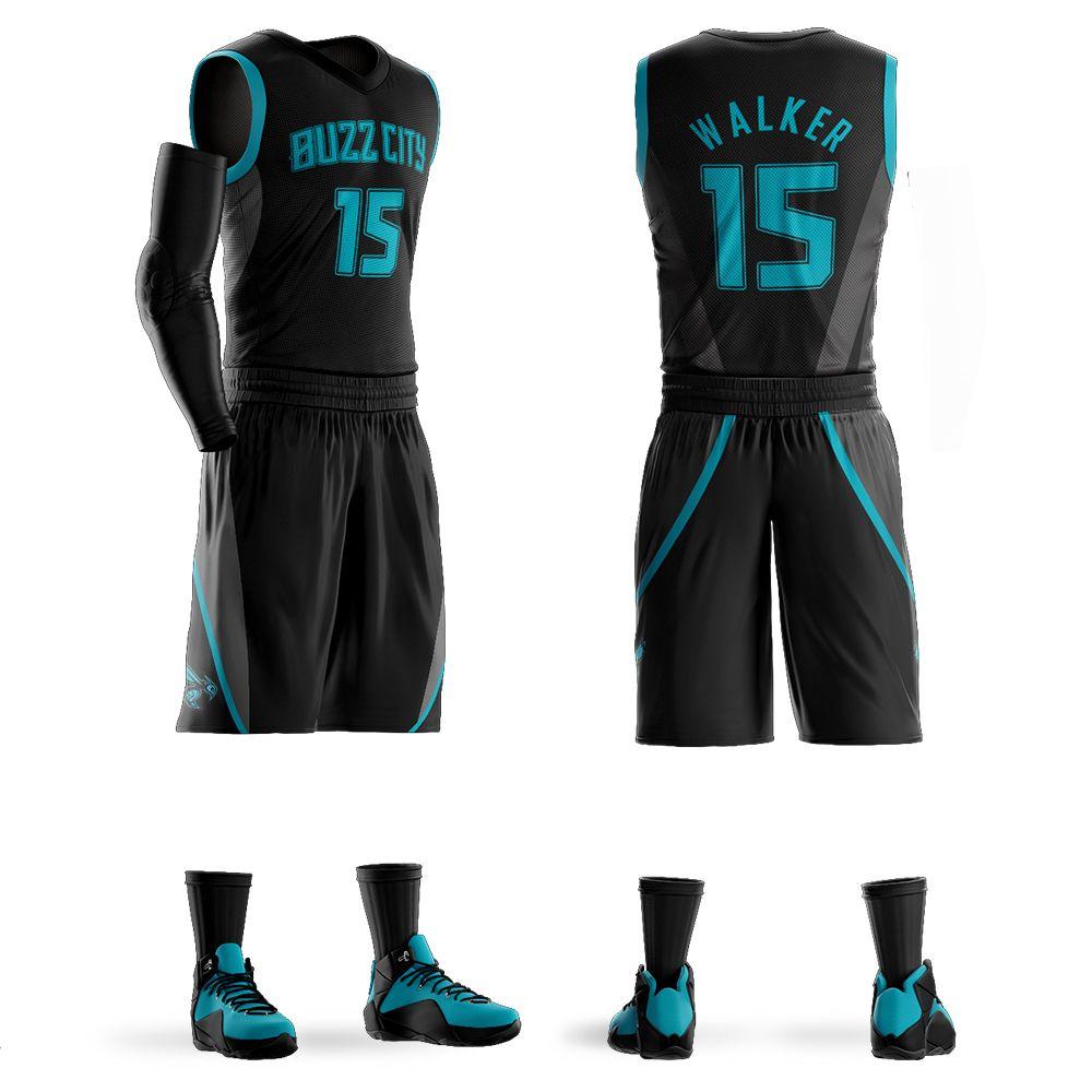 buy popular 0ed60 727aa Men s Youth Custom Basketball Jerseys Sets Kemba Walker Jersey Purple  Basketball Shirt Customized Design Wholesale