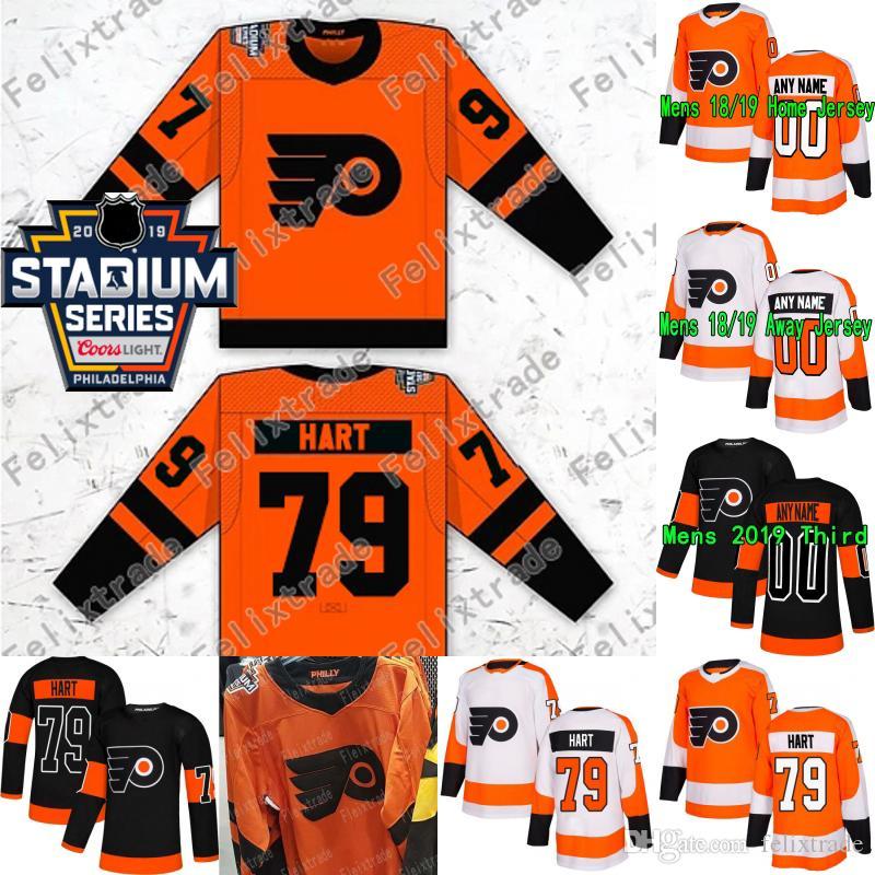 premium selection fd00d a6f40 Carter Hart 2019 Stadium Series Philadelphia Flyers Claude Giroux Jakub  Voracek Sean Couturier Travis Konecny Wayne Simmonds Hockey Jerseys