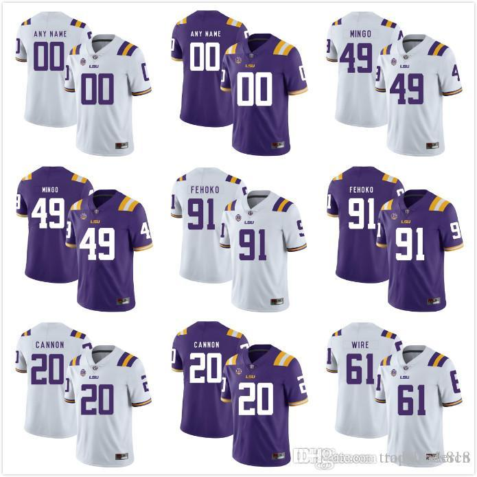 newest 724dc 1b591 Custom Mens Youth LSU Tigers Any Name Any Number Personalized Kids Man Home  Away NCAA College Football Jerseys