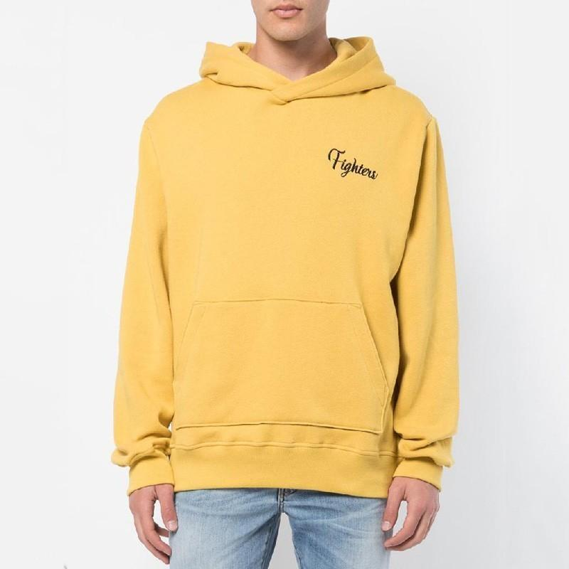 2915c6bae 2019 18FW AM1R1 Autumn Winter Yellow Hooded Sweatshirt Tiger Embroidery  Hoodies Fashion Men Women Street Casual Pullover Sweater HFYMWY208 From  Pitaya001, ...