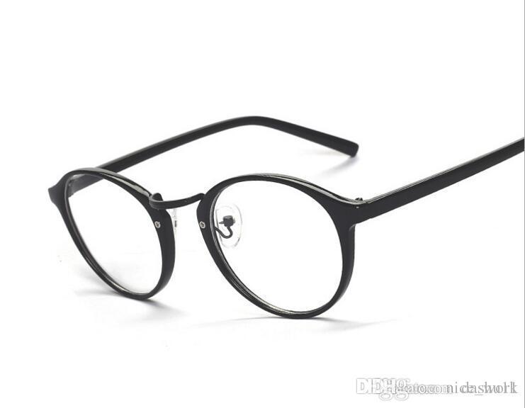 89577fa984 2019 2017 Retro Round Reading Eye Glasses Frame Men Eyewear Women Vintage  Computer Myopia Eyeglasses Frame Brand Glasses Oculos De Grau Femininos  From ...