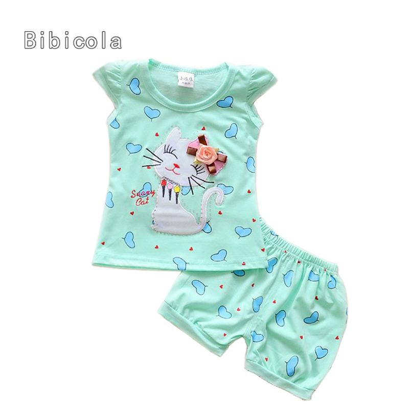 9d94f267920 2019 Good Quality Summer Newborn Baby Girls Clothing Sets Set Infants Cute  Cat Vest Top+Shorts Sets Summer Toddler Clothes Set From Nextbest06