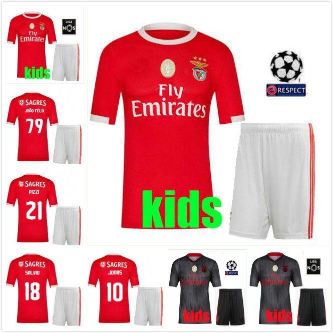 reputable site 3e78f 9b9d3 2019 Benfica Away gray men set Soccer Jerseys 19 20 JOAO RAFA Pizzi Salvio  SEFEROVIC JONAS Raul Jimenez kids kit FOOTBALL SHIRTS