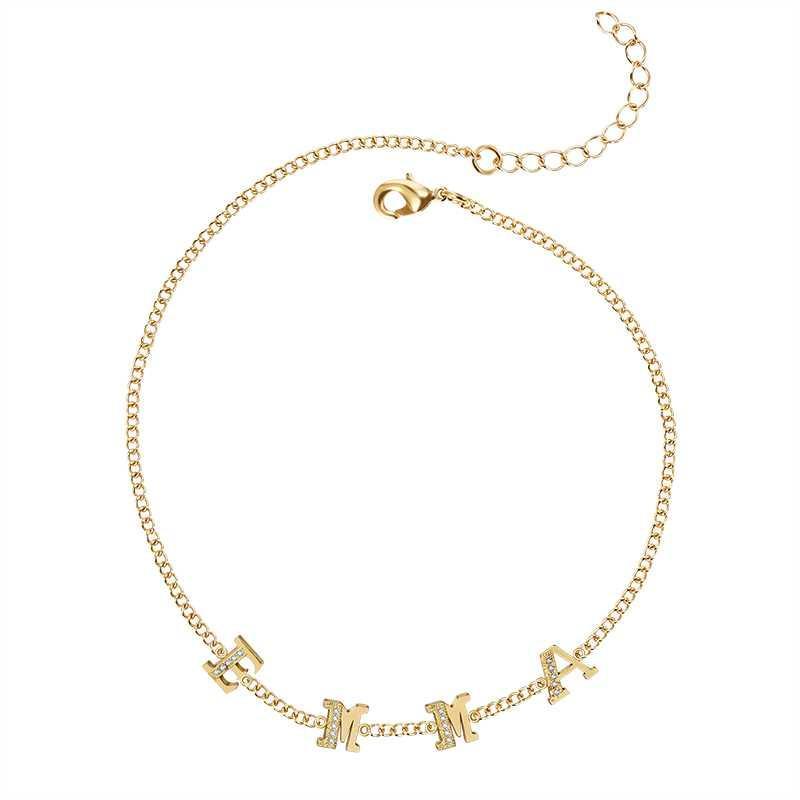 450066128c72 Compre METOO Nueva Primavera Chock Cristal Letra Collar Cadena De Oro Nombre  Personalizado Personalizado Mujeres Simple Delicado Collares Regalo Para  Niña A ...