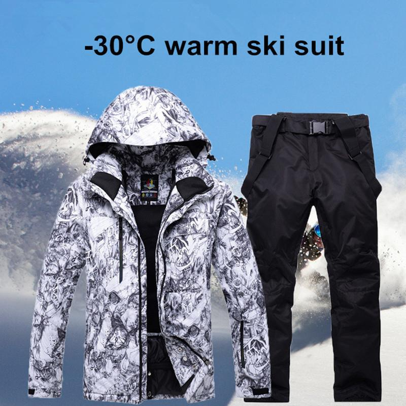 31a828a91326 2019 2018 New Mens Ski Suit Super Warm Waterproof Windproof ...