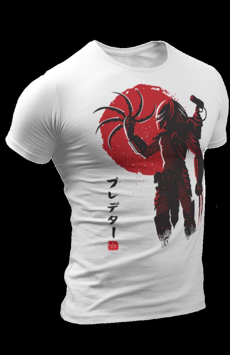f018a0915dd564 Predator Japanese Warrior Samurai Sun Karate Martial Arts Chinese Retro T  Shirt Gift Print T Shirt