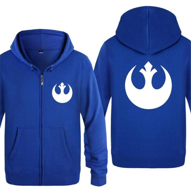 ad51d06ebc Mens Hoodie Movie Rebel Alliance Logo Hoodies Men Fleece Long Sleeve Zipper  Jacket Coat Sweatshirt Skate Tracksuit