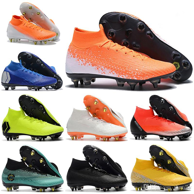 the best attitude bbfc8 e65cb New Mens High Ankle Football Boots Euphoria Pack CR7 Mercurial Superfly VI  360 Elite SG Soccer Shoes Superfly 6 Neymar ACC Soccer Cleats