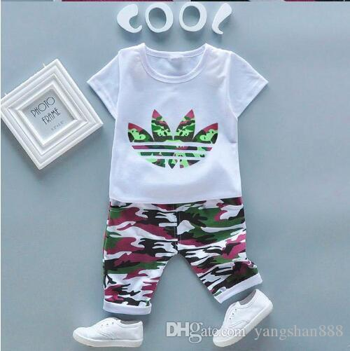 98236ebd4f1d74 2019 TTAD Brand Baby Boys And Girls Tracksuits Kids Tracksuits Kids T  Shirts   Pants  Sets Kid Clothing Hot Sell New Fashion Summer.