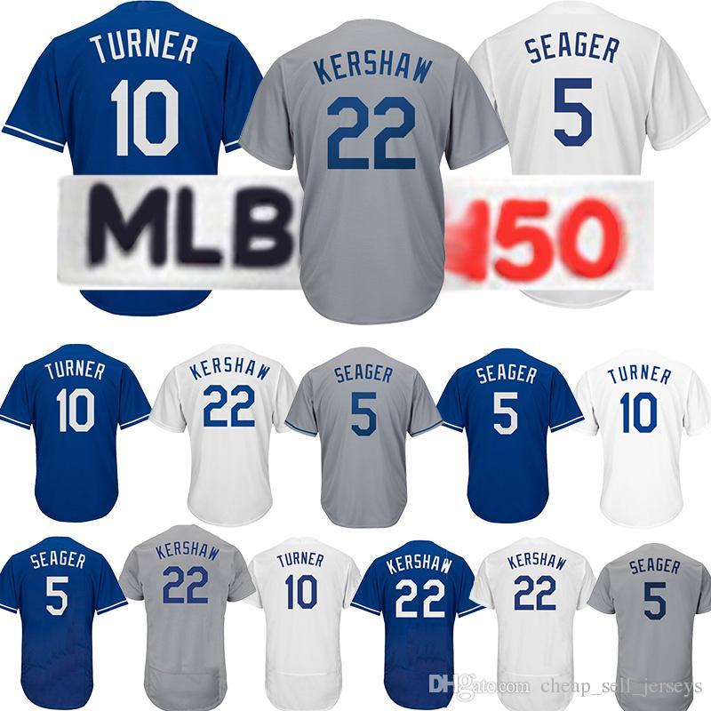 timeless design 963b4 77595 10 Justin Turner 22 Clayton Kershaw jersey 23 Adrian Gonzalez 5 Corey  Seager 66 Yasiel Puig 10 Justin Turner baseball jersey