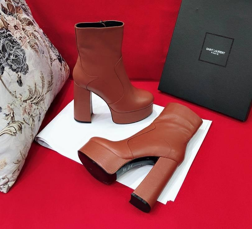 50402412c73 Autumn Trend Ladies Must Have New High Rise Boots Fabric With High Quality  Head Layer Cowhide And High 13cm Water Platform 4.5cm Wedge Shoes Boots  Online ...