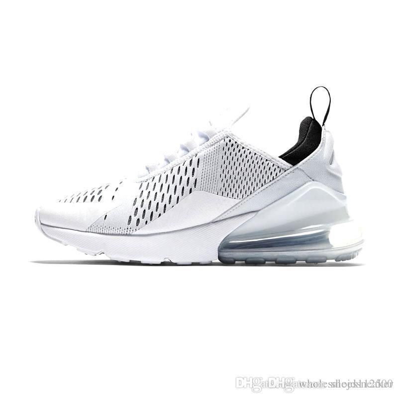 best website a4b95 2f426 Nike 270 Zapatillas De Running De Alta Calidad Para Hombre 270 Blancas  Rojas Cian Tigre Zapatos De Hombre De Diseño Botas Calientes Triples Negras  Para ...