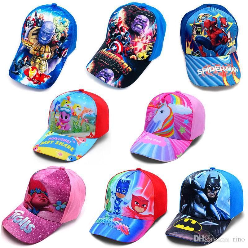 kids baby shark marvel baseball cap 34 styles