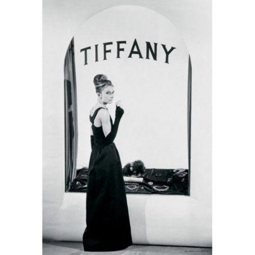 AUDREY HEPBURN Breakfast at Tiffan's BW Art Silk Poster 24x36inch 24x43inch 0587