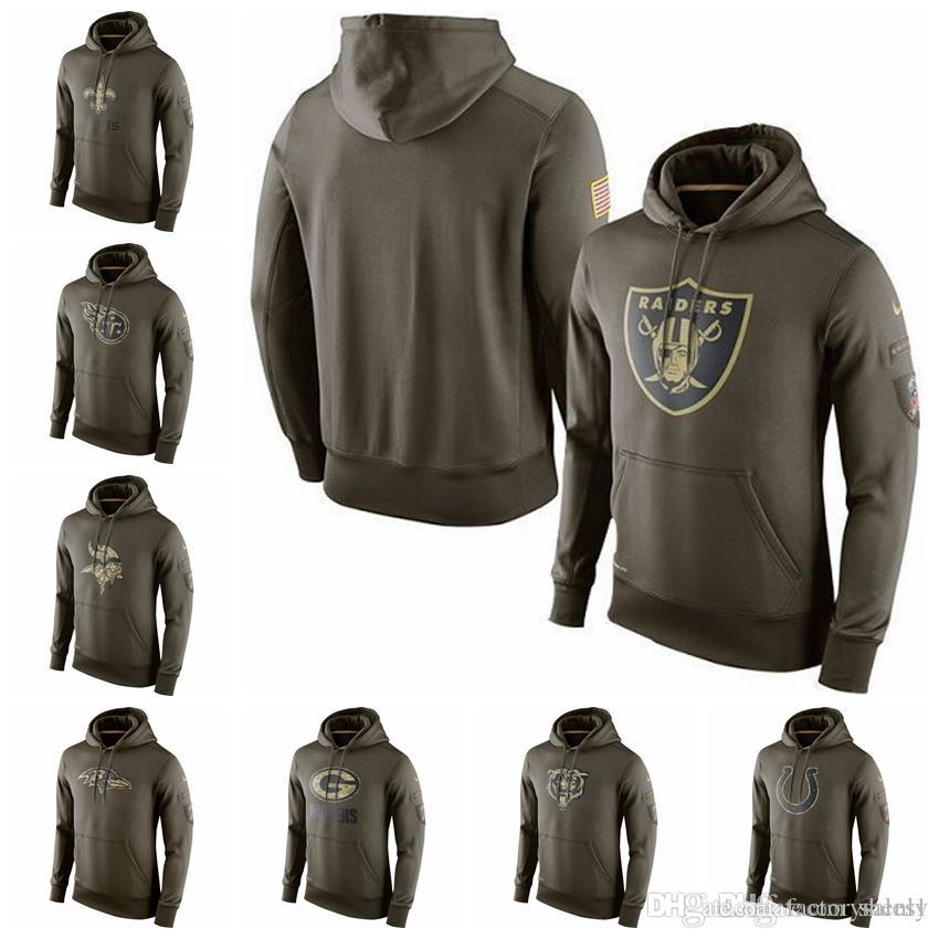 huge discount c5c28 c8158 Mens Salute to Service Sideline Performance Hoodie Sweater Giants Titans  Vikings Ravens Colts
