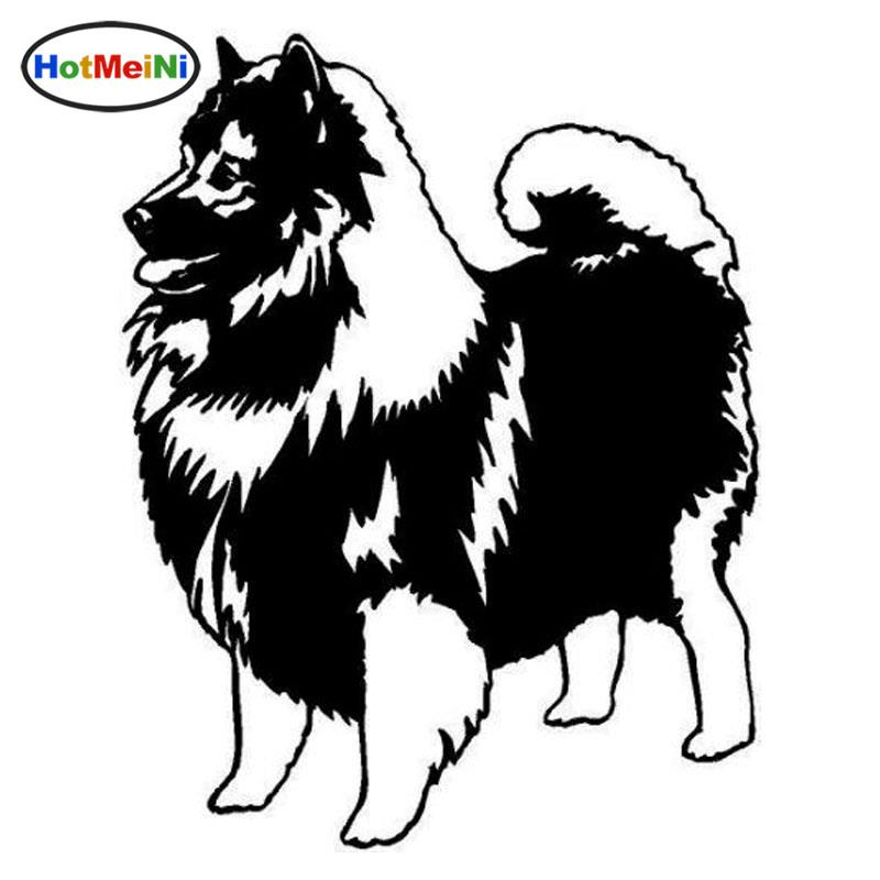 Hotmeini Keeshond Dog Wholesale Car Stickers Lovely Vinyl Decal Car