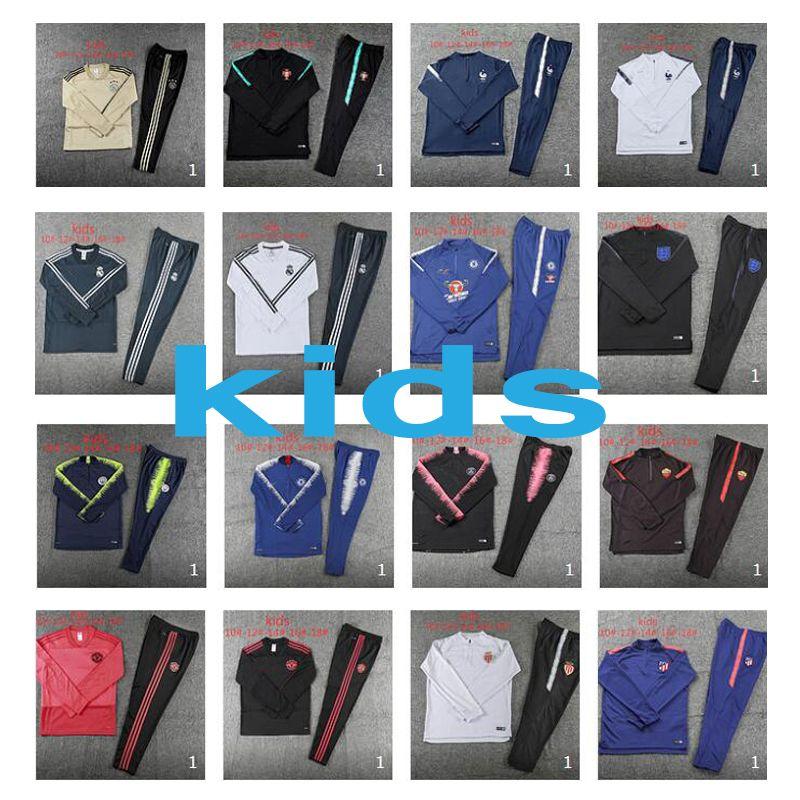 3cac4dad30c 2018 Juventus Tracksuit Kids 18 19 Football Training Suit Sets Boys ...