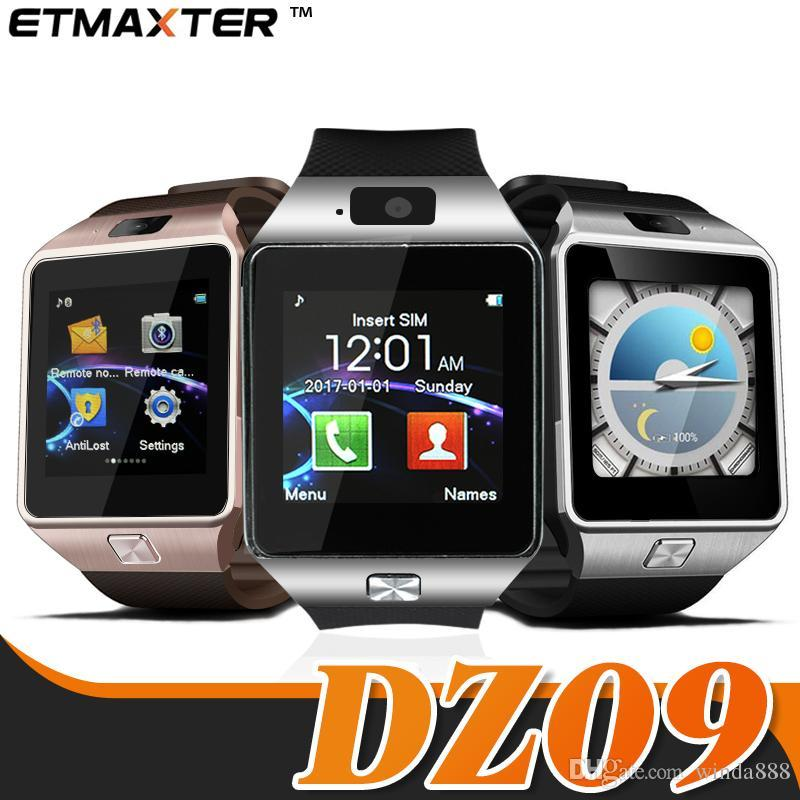 DZ09 Montre intelligente Bluetooth Iphone Smartwatch État de veille Carte SIM Android Montre bi-directionnelle Anti-projection avec emballage pour iPhone 7 8 X Xs max