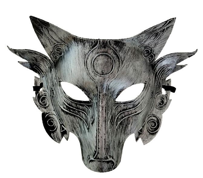 a87b7c78c57 2019 Wolf Animal Mask Festival Halloween Party Cosplay Costume ...