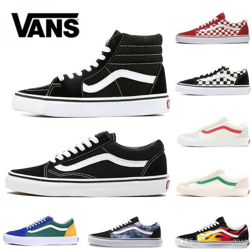 Yacht Club Vans Old Skool Men S: 2020 VANS Old Skool Men Women Sk8 Hi Casual Shoes Rock