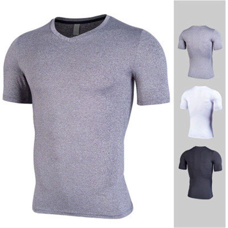 Compre 2019 Nueva Camiseta De Running Para Hombres Ropa Deportiva  Culturismo Compresión Fitness Gimnasio Deporte Camiseta De Fútbol Camisetas  De Fútbol ... 27c626096a679