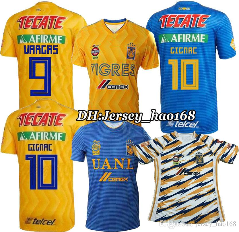 51acf4e678b 2019 TOP QUALITY 18 19 Mexico Club Tigres UANL Soccer Jersey Yellow Home 6  Stars 2018 2019 GIGNAC Vargas H. Ayala Away Football Shirt From  Jersey hao168