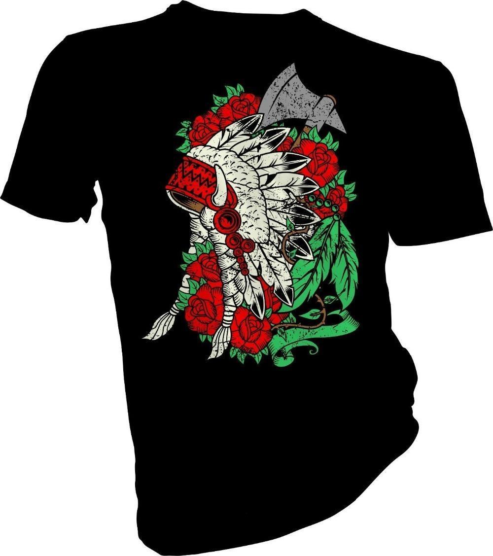Cheap T Shirts Online Crew Neck Short Sleeve Eyewi Native American