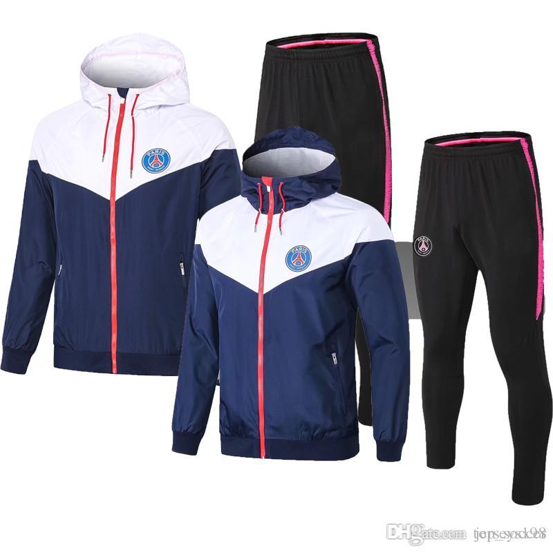 new 2019 2020 Paris Windbreaker training suit MBAPPE CAVANI Jersey 2019 Maillot De Foot Paris Football Uniform Sportswear Tracksuit