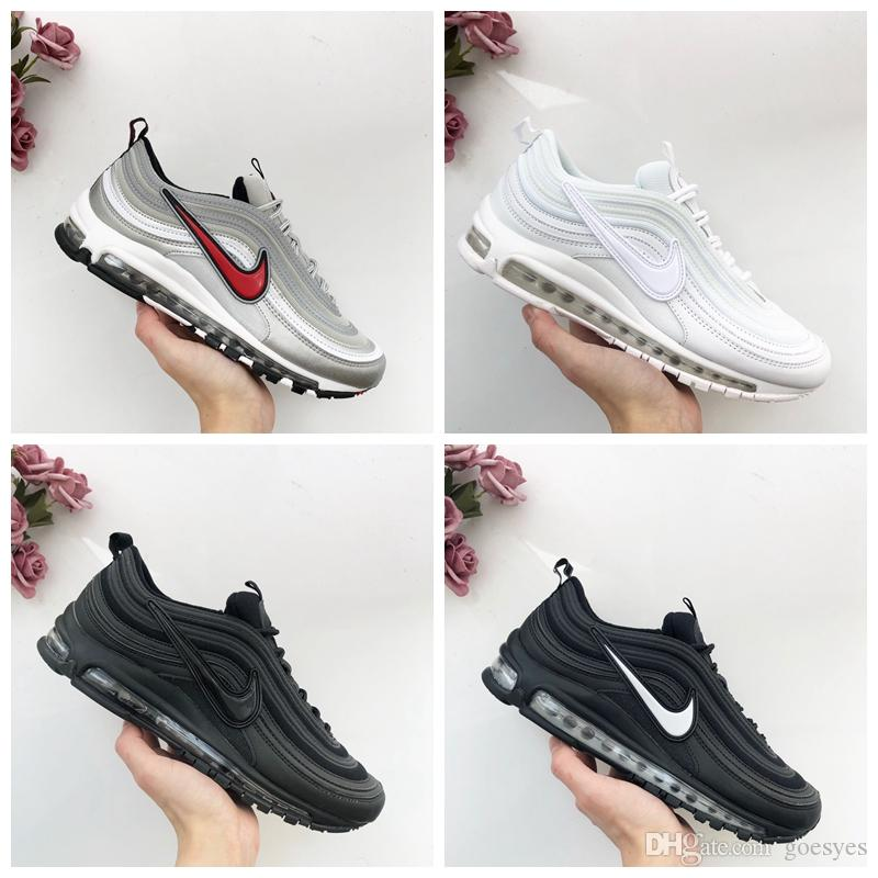 brand new ee4c9 64b1d 2019 New 97 Neon Seoul Day Mens Running Shoes For Men Air White Maxes Black  Metallic Sports Trainers 97s Womens Sneakers Size 5-11