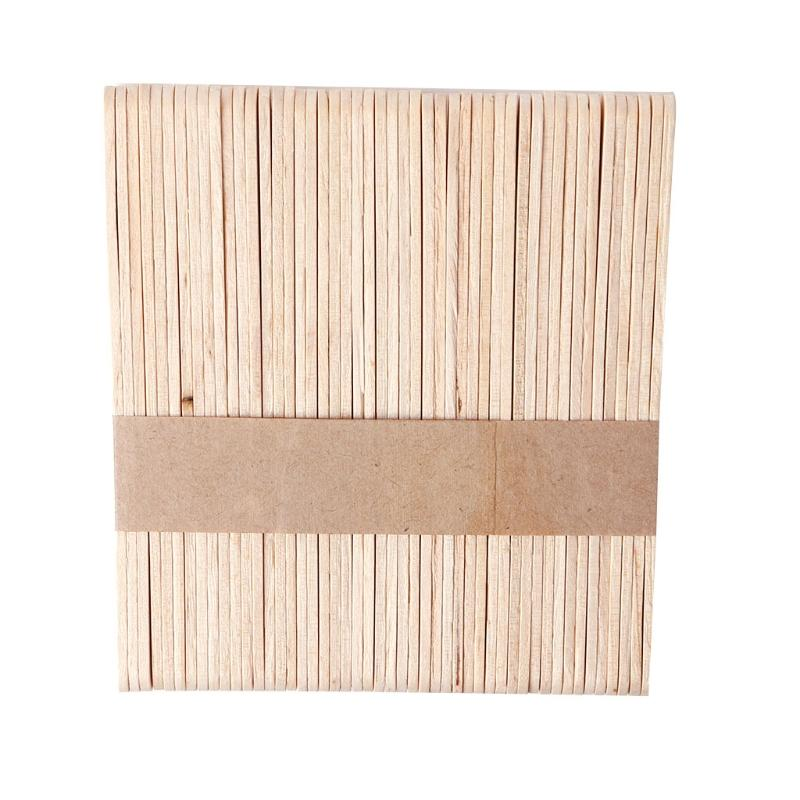 1500pcs Holz Waxing Wax Spatel Zungenspatel Einweg-Bambus-Sticks Kit