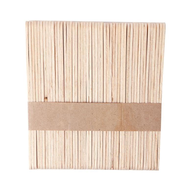 1500pcs Деревянного Воск Воск Шпатель Депрессор Язык одноразовый бамбуковые палочки Kit