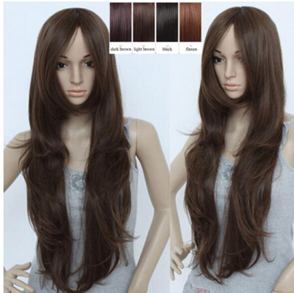 FREE SHIPPING ++ Fashion New Style Wave Full Long Hair Wigs Cosplay Party Wigs