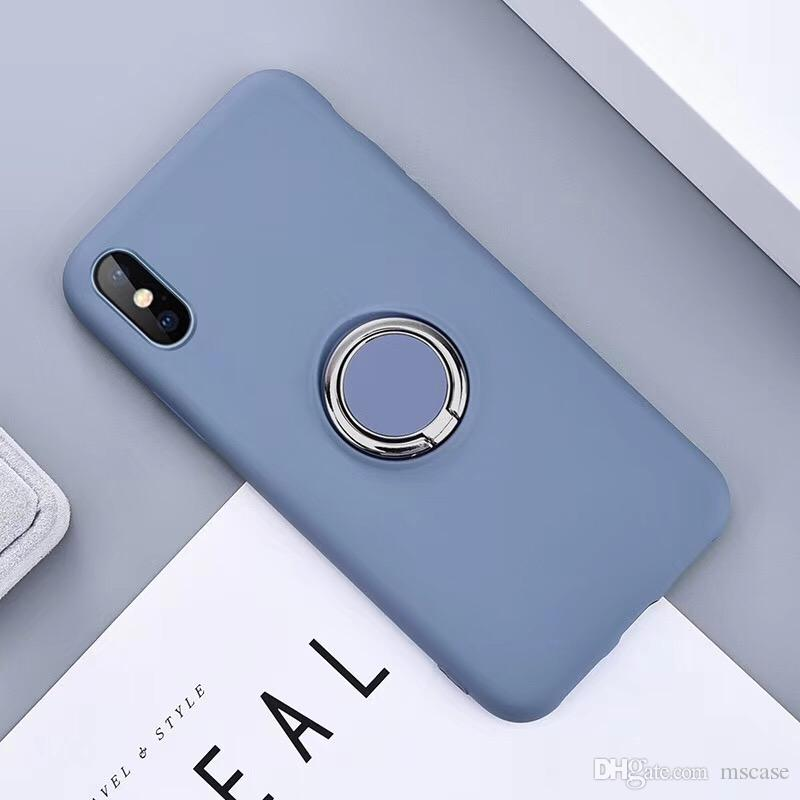 Liquid Silicone For Samsung S8 S9 S10 Plus J2 J5 J7 Prime Liquid Rubber Silicone TPU Cover Case Pouch with Ring