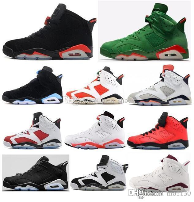 bf39b75d97d 2019 2018 High Quality 6 6s Black Infrared 3M Reflect Carmine UNC  Basketball Shoes Men Toro Hare Oreo Maroon Tinker Low Chrome Sneakers With  Box From Mo1130 ...