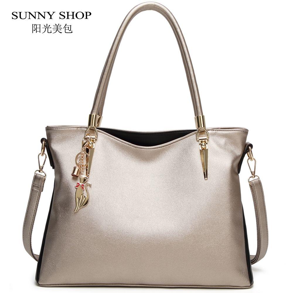 Top-handle Bags Sunny Simple Small Messenger Bags 2019 New Shoulder Bag Metal Color Luxury Handbags Women Bag Designer Chain Mini Shoulder Bag A1 Sale Price Women's Bags