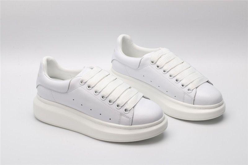 0baaabf416d8e3 Fashion Brand Casual Shoes Flats Fashion Genuine WHITE Leather Walking Shoes