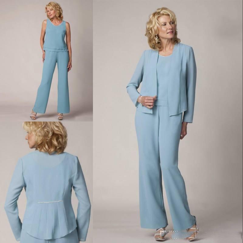 Grosshandel Elegante Dreiteilige Kleider Fur Die Brautmutter Mit