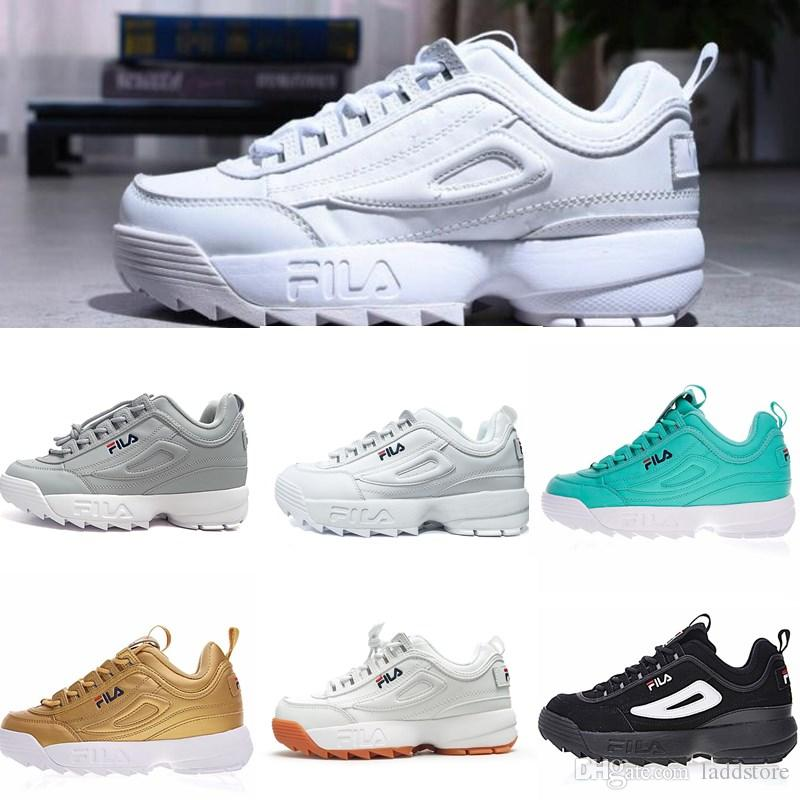 Chaussures Ii File Hommes Blanc Féminine Noir Baskets Formateurs De Mode Or Vitesse Rose 2019 Fila Gris Augmenté 2 Course Pour pqSzGUMV