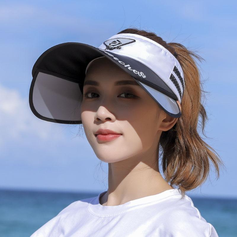 Sun hat female sun protection summer wild can adjust Korean version of the tide travel beach cover face empty top shade hat youth