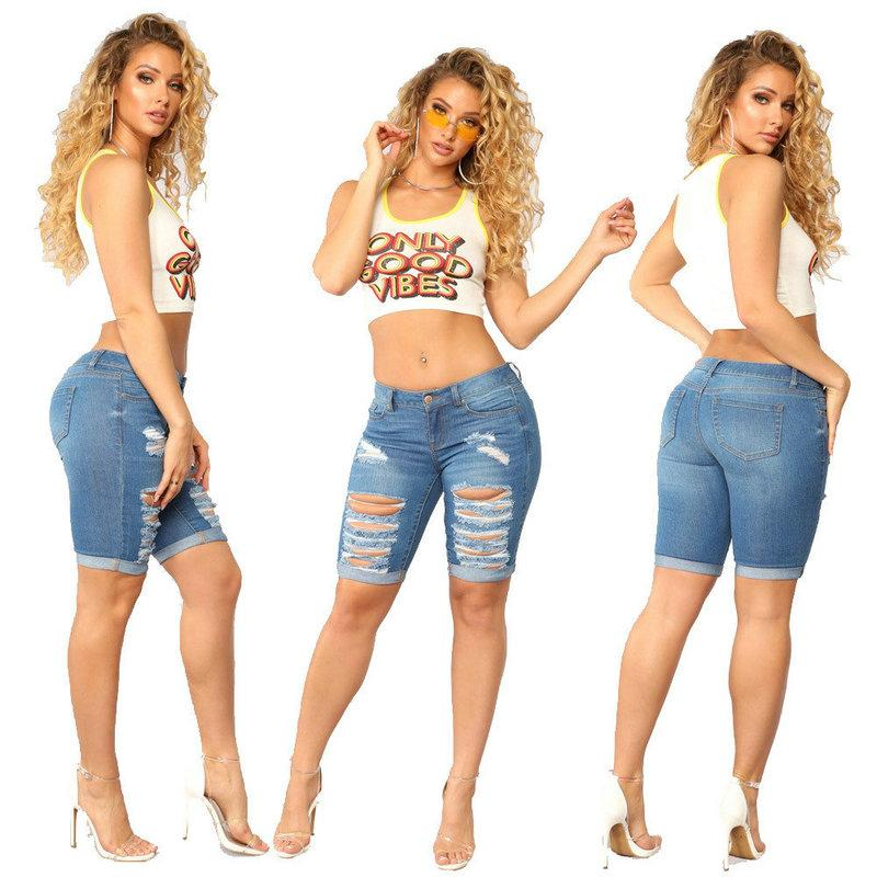 Women's Clothing Useful New Arrival Casual Summer 2019 Hot Sale Denim Women Shorts High Waists A-lined Leg-openings Black Sexy Short Jeans Bottoms