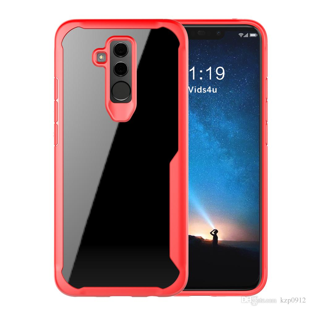 a basso prezzo 7a1aa cd039 Case For Cover Huawei Mate 20 Lite Case Luxury Soft Silicone Transparent PC  Cover For Huawei Mate 20 Lite Case Cover